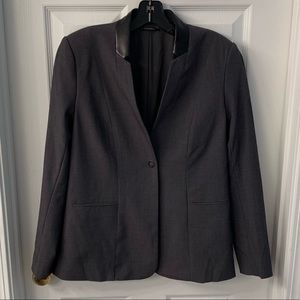 t tahari gray suit jacket size 2